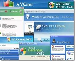 Varios Falsos Antivirus