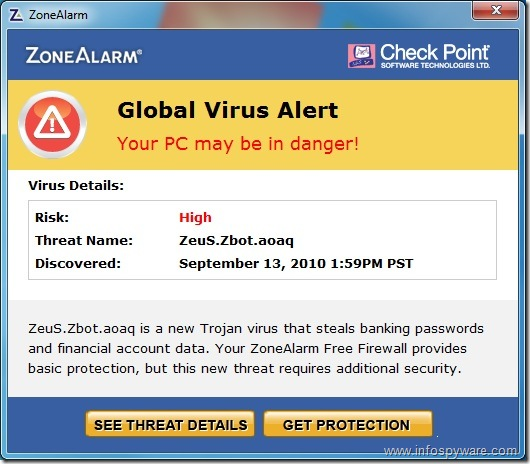 ZoneAlarm Zeus Zbot