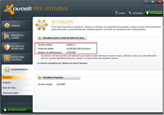 Avast 6 HTML:Script-inf