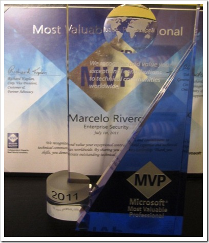 Marcelo Rivero MVP Enterprise Security