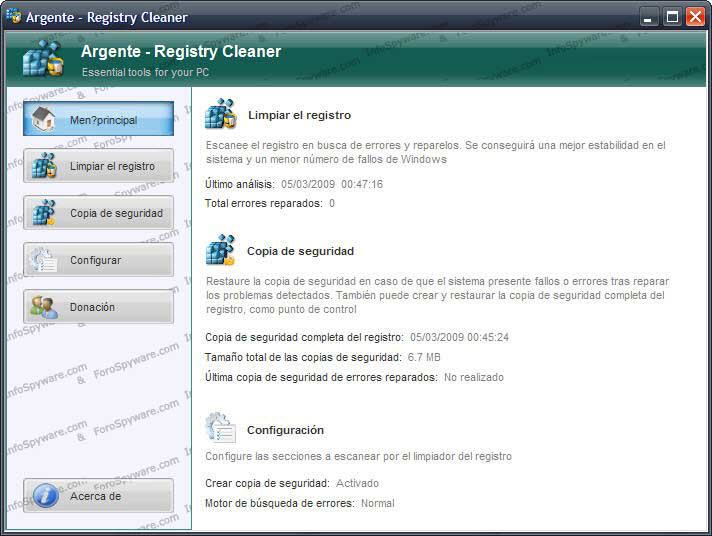 Argente – Registry Cleaner 3.1.2.0